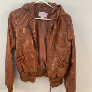 Women's brown hooded jacket - excellent condition
